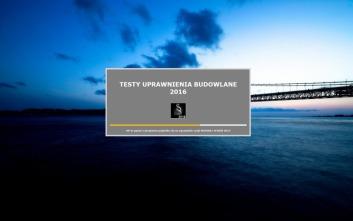 Dostępna nowa wersja programu TESTY UPRAWNIENIA BUDOWLANE 2016 - NOWE INTRO
